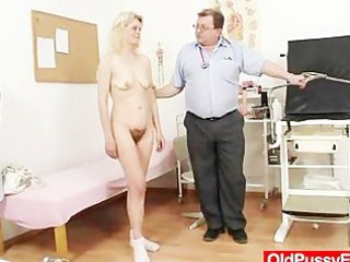 Skinny granny Isabela with extremly hairy pussy