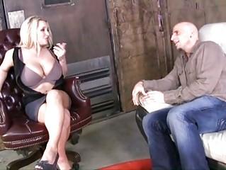 Big titted MILF Rachel love tit wanks a hard nob