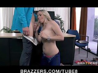 Julia Ann gets a new job and fucks the boss on