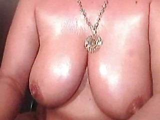 Oily mature on webcam