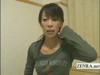 Subtitled mature female Japanese bodybuilder