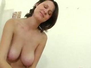 Mature Girl With Big Tits Gives A Handjob