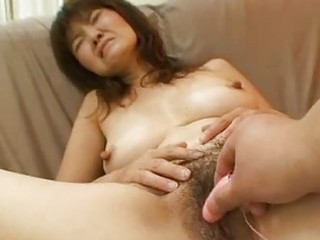 Horny asian milf hot doggy penetrating