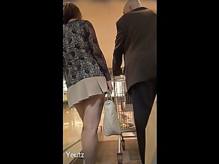 Asian MILF with a VERY SHORT SKIRT + Upskirt - NO
