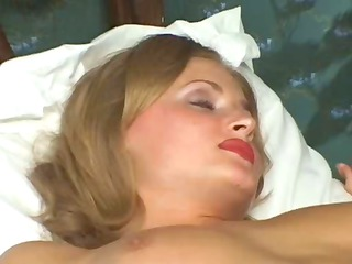 Hot blonde Russian wife is cheating and being