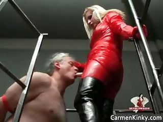 Two hot horny sexy body latex MILF babes part3