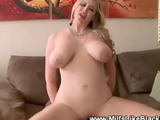 White busty milf fucked by black cock