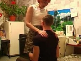 Mature woman with a young boy 6