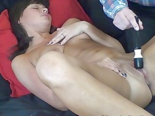 MILF with Snapping Pussy Orgasms Squirts with Help