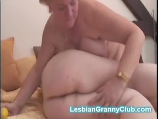Chubby old ladies play with dildos in mature
