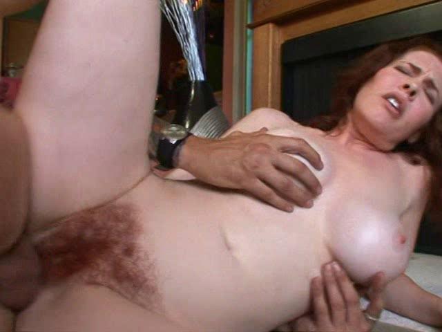 Horny milf enjoys hard cock deep into her hairy