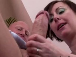 Mature stocking classy lady blowjob
