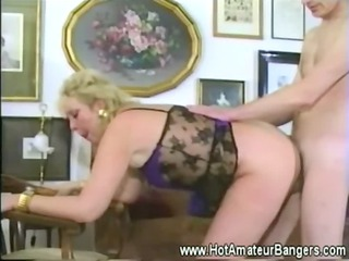 Mature with pierced pussy gets fucked