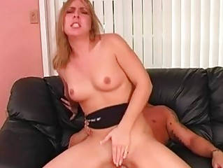 Blonde momma with back tattoo gets her ass drilled