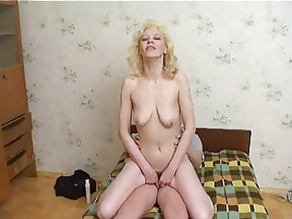 Russian Mum Enjoys young boys Cum !