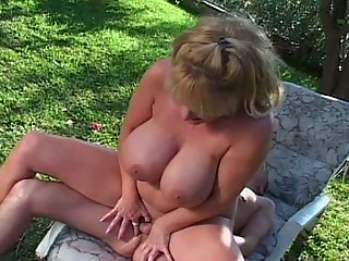 Big boob milf outside sex in hooter nation