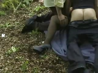 wife gets gangbanged outdoors
