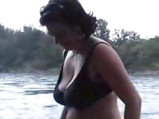 Huge Boobs Mature Outdoor Flashing