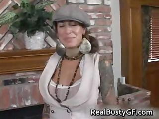 Round bigtits tattooed mom fireplace part5