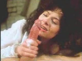 Vintage retro mature woman blowjob with big